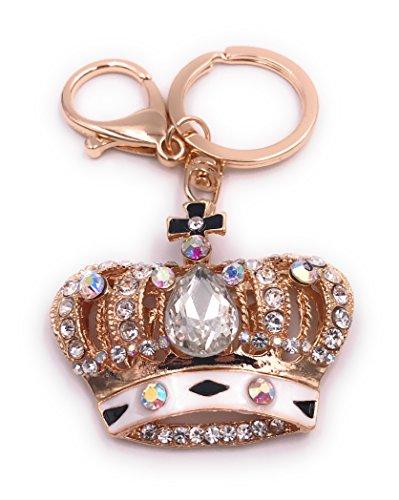 H-Customs Krone König Schlüsselanhänger Anhänger Taschenanhänger aus Metall