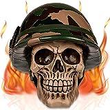 mtb more energy Hucha decorativa de calavera 'Platoon' Trooper Army G.I. Calavera – Altura 14 cm – Hucha figura...