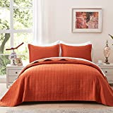 NexHome Burnt Orange Quilt Set Queen Size Bedspread...