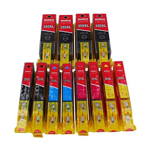 【在庫一掃】CANON (キヤノン)5色セット大容量 BCI-351XL (BK/C/M/Y) x 2パック + BCI-350XL BK x 4パック (計12本セット)残量表示付 互換インク【対応機種】PIXUS iP8730, PIXUS iX6830, PIXUS MG6730, PIXUS MG7130, PIXUS MG6530, PIXUS iP7230, PIXUS MG6330, PIXUS MG7530, PIXUS MG5430, PIXUS MG5530, PIXUS MG5630, PIXUS MG7530F, PIXUS MX923