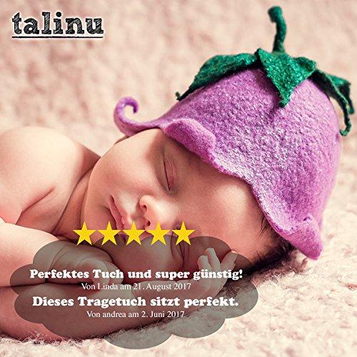 TALINU Babytragetuch – atmungsaktiv und elastisch – 520 x 55 cm - 6