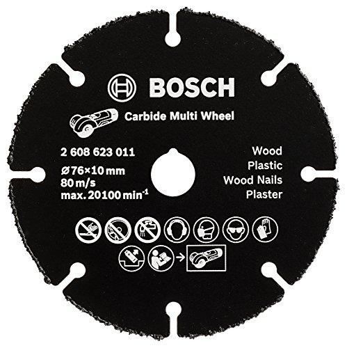 Bosch Professional Carbide Multi Wheel Trennscheibe (Multi Material, Ø 76 mm, Zubehör Winkelschleifer)