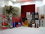 Rimmel London Beauty Blockbuster - Set de regalo para maquillaje y perfume, incluye cesta de flores con base Astor, 15 piezas