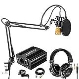 Neewer Microfono a Condensatore Nero Dorato NW-800 Cuffie Monitor Alimentazione 48V Phantom Nera...