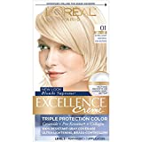 L'Oreal Paris Excellence Creme Permanent Hair Color, 01 Extra Light Ash Blonde, 100% Gray Coverage Hair Dye, Pack of 1