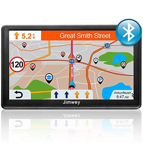 Bluetooth Navi Navigationsgerät für Auto LKW GPS Navigation 7 Zoll 16GB Lebenslang Kostenloses Kartenupdate mit Freisprecheinrichtung Blitzerwarnung POI Sprachführung Fahrspur 2020 Europa 52 Karten