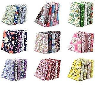 """4"""" x 4"""" (10cmx10cm) 100PCS BcPowr Craft Fabric, Craft Patchwork Bundle Top Cotton Fabric Squares Lint DIY Sewing Scrapbook..."""