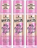 got2b - My Natural Style Spray Démêlant Cheveux Désobéissants 200 ml - Lot de 3