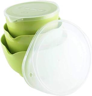 Rosti MARGRETHE 5722000106098 Lot de 3 bols avec couvercle Vert citron Env. 1,5 + 2 + 3 l