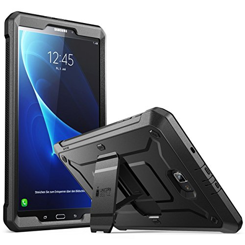 SUPCASE [Unicorn Beetle PRO Series Case Designed for Samsung Galaxy Tab A 10.1 inch, with Built-in Screen Protector for Samsung Galaxy Tab A 10.1 inch 2016 (SM-T580/T585) (No Pen Version) (Black)