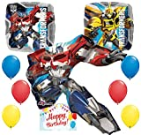 Transformers Party Supplies Optimus Prime Character Balloon Decoration Bundle