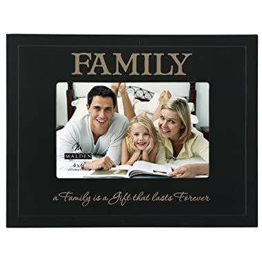 Malden International Designs Sentiments Family Great Woods Double Layer Picture Frame, 4x6, Black