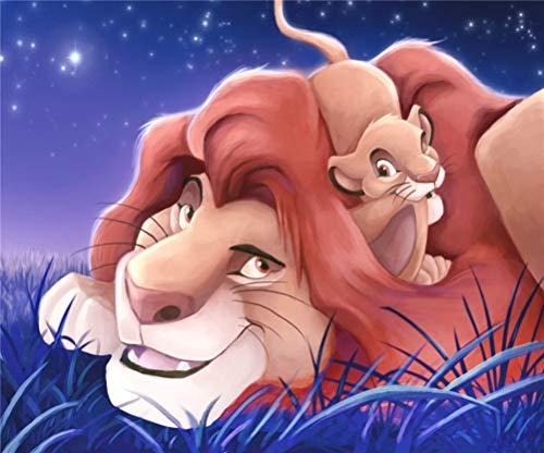 DIY-Ölgemälde-Kit, Malen nach Zahlen für Kinder und Erwachsene - König der Löwen 16 x 20 Zoll (Ohne Rahmen)