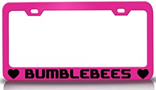 Custom Brother - BUMBLEBEES with Heart Steel Metal License Plate Frame Auto Tag Holder Holder Pn