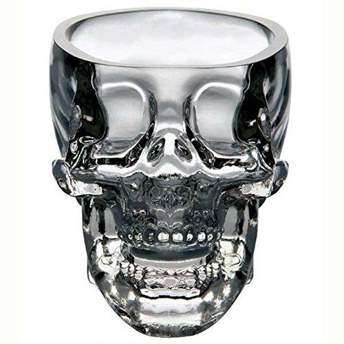 Crystal Skull Head Vodka Whiskey Shot Glass 2 OZ for Home, Party, Dinner, Bar, etc.