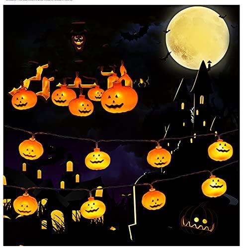 Halloween pompoen lantaarn string, LED Halloween kerstversiering sprookje lamp hangende lantaarn indoor outdoor familie…