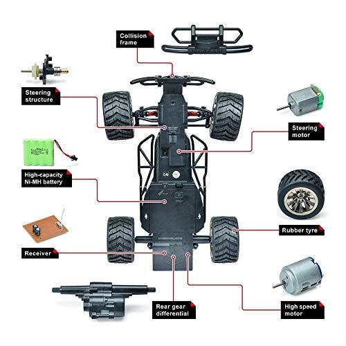 RC Auto kaufen Truggy Bild 4: VATOS Ferngesteuertes Auto, Maßstab 1:16, 2,4 Ghz, Rennwagen, Rennrad-Crawler, Schwarz*