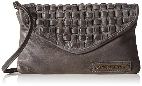 Taschendieb TD0613 613 Damen Umhängetaschen 26x16x2 cm (B x H x T), Grau (grau)