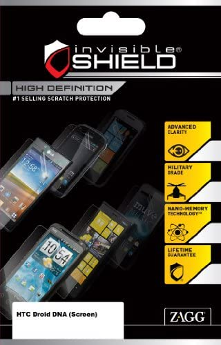 InvisibleShield High Definition for HTC Droid DNA Screen Retail Packaging Clear product image