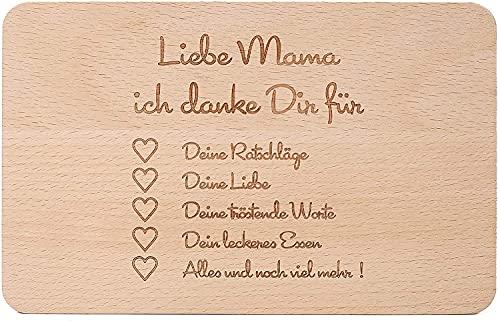 2 tablas de desayuno de madera con grabado, regalo para el Día de la Madre, una gran idea de regalo para el Día de la Madre, de madera maciza para cortar carne, para pasteles o para el Día de la Madre