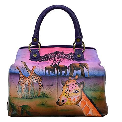 Anna by Anuschka Damen Satchel Shoulder Handbag echtes Leder, Serengeti Sonnenuntergang, Einheitsgröße
