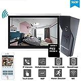Teléfono Dragonsview 10 pulgadas Wifi Intercom timbre inalámbrico sistema de cámara inteligente de seguridad por portero Android ISO móviles compatibles (Color : Set 2 32GB Card)