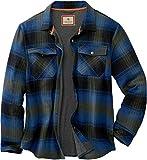 Legendary Whitetails Men's Archer Thermal Lined Flannel Shirt Jacket, Cabin Cobalt Plaid, Large