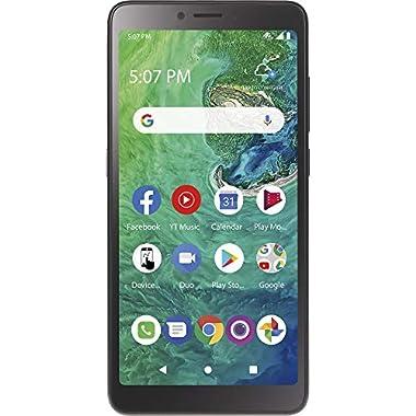TracFone TCL A2 4G LTE Prepaid Smartphone (Locked) – Black – 32GB – Sim Card Included – CDMA, TFALA507DCP