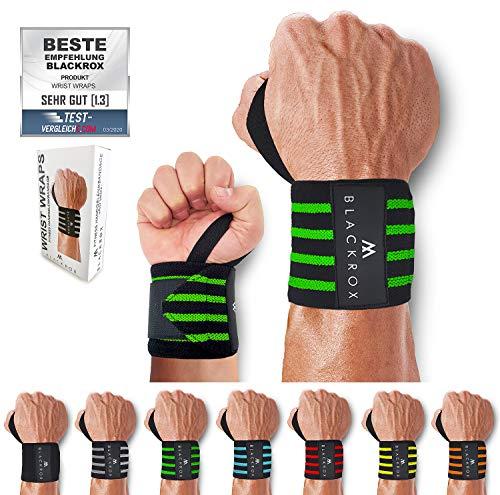 BLACKROX Handgelenkbandage Wrist Wraps Beast Killer 2X Handgelenkstütze Mann Frau Handgelenk Bandage für Sport, Fitness, Gym Bodybuilding Crossfit Powerlifting Weightlifting Kraftsport (Grün)