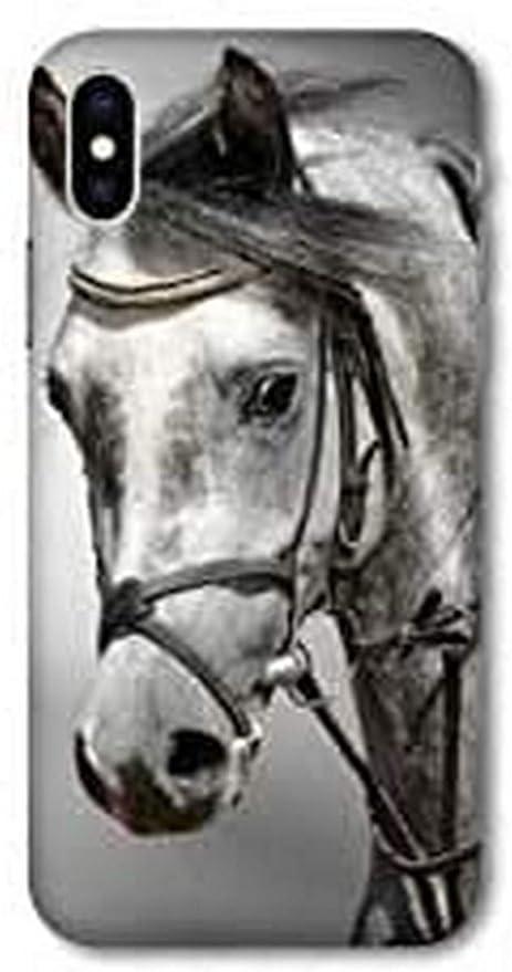 Coque pour Wiko Y80 Cheval - Blanc