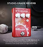 TC Helicon Mic Mechanic 2 Vocal Effects Pedal Bundle with Blucoil Slim 9V Power Supply AC Adapter, and 10-FT Balanced XLR Cable