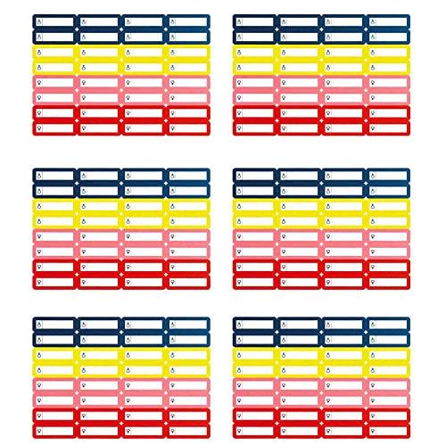 192 etichette adesive per penne 35 x 10 mm, per matite e penna per la scuola materna e la scuola