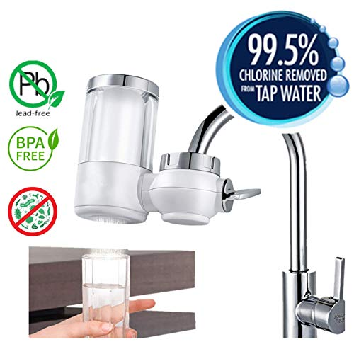 Napoo Kitchen Faucet Water Purifier No Leakage, Tap Water Filter Dispenser, Best Drinking Water Filters, 7-Layer Composite Filter, Compatible with 99% Faucet