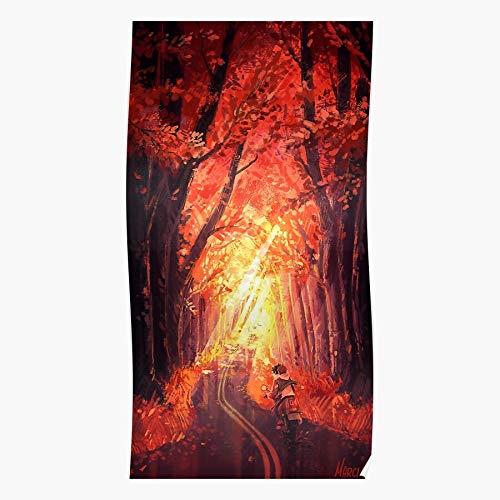 rabitat Fall Keith Autumn Legendary Defender Klance Forest Lance Voltron Geschenk für Wohnkultur Wandkunst drucken Poster 11.7 x 16.5 inch