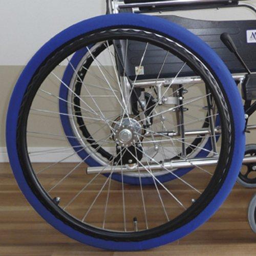 あい・あ~る・けあ 後輪用ホイルソックス 青 小(S) 幅:8.5cm (適応車輪サイズ:15~16inch) 車いす 車輪用靴下 洗濯ネット使用