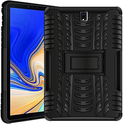 Verco Hülle für Samsung Galaxy Tab S4 10.5, Outdoor Schutzhülle Armor Tablet Case Cover [T830 T835], Schwarz