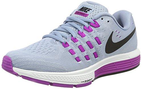 Nike Womens Air Zoom Vomero 11 Running Shoe (10 B(M) US, Blue Grey/Black/Hypr Vlt/Bl Tnt)
