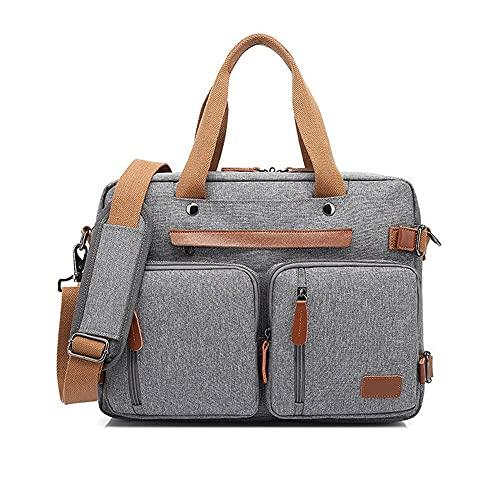 Zoo-yilnsgwb Borsa Porta Pc, Zaino da 15.6/17.3inch Backpack per Laptop, Zaino di Business di Viaggio di Moda, Zaino in Nylon Impermeabile antifurto Zaino (Color : Grey, Size : 17 Inches)