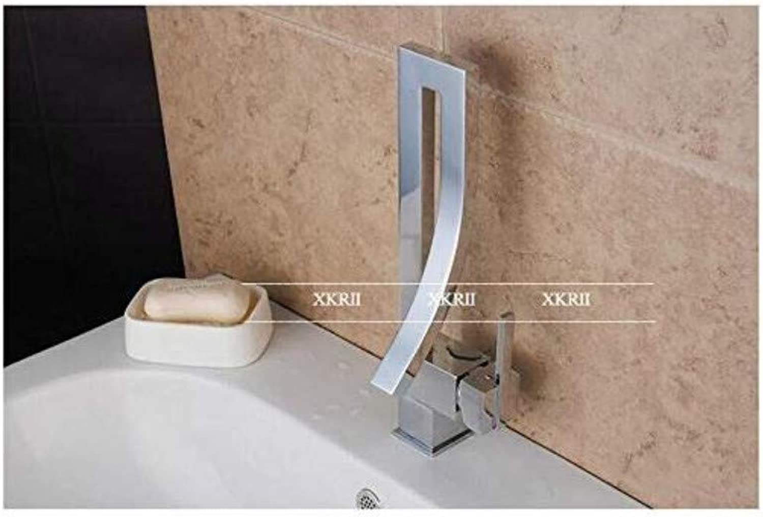Modern Plated Kitchen Bathroom Faucet Copper Hot and Cold Kitchen Sink Dish Faucet Square Single Hole Single Handle Kitchen Faucet
