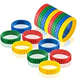 ArtCreativity 7.5 Inch Building Block Bracelets for Kids - 12 Pack - Colorful Stretchy Rubber Wristbands for Boys and Girls - Fun Birthday Party Favors for Children, Goodie Bag Fillers, Carnival Prize