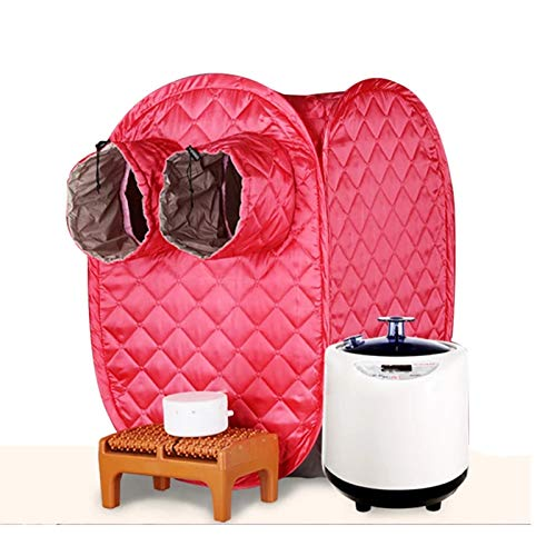 GFSD Tragbare Dampfsauna Vorteilhafte Hautsauna-Anzüge Zur Gewichtsreduktion Dampfgenerator Home Saunaräume Bad Indoor SPA Mit Sauna (Color : Red)
