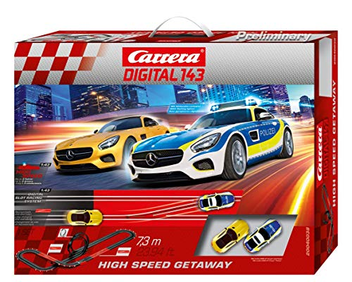 Carrera DIGITAL 143 High Speed Getaway 20040038 Autorennbahn Set