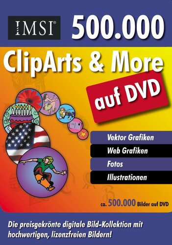 ClipArts and More (500.000). DVD-ROM. Vektor Grafiken, Web Grafiken, Fotos, Illustrationen.