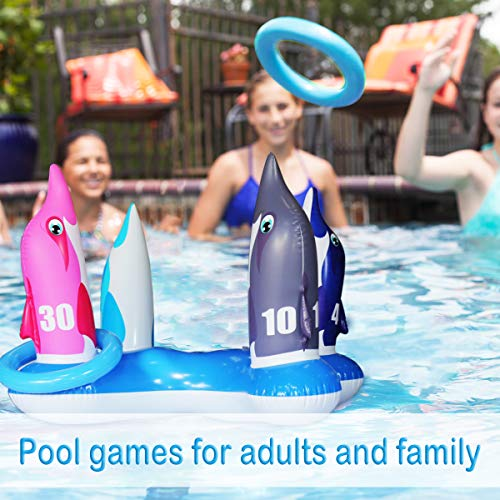 JOINBO Inflatable Pool Ring Toss Games Toys,Swimming Game Toy for Kid...