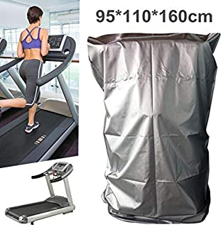 Treadmill Cover, Sports Running Machine Protective Folding Cover Dustproof Waterproof Cover, for Outside Weather Rain & Sunshine Resistance, 37.40''x43.31''x62.99''