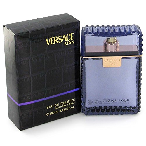 VERSACE Man Eau De Toilettes Spray, Purple, 3.4 Ounce