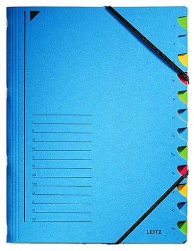 Leitz 39120335 Ordnungsmappe (A4, 12 Fächer) blau