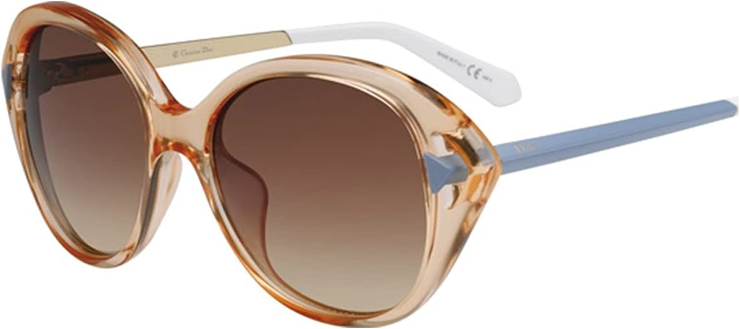Dior 6MD Peach and Matte Azure Chromatic2 Cats Eyes Sunglasses Lens Category 3