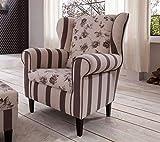 lifestyle4living Ohrensessel in beige im Landhausstil | Der perfekte Sessel für entspannte, Lange Fernseh- und Leseabende. Abschalten und genießen!