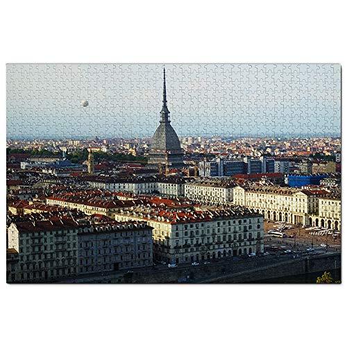 Italia Torino Puzzle 1000 Pezzi Adult Puzzle in Legno Gioco di Puzzle Souvenir Turismo Regalo